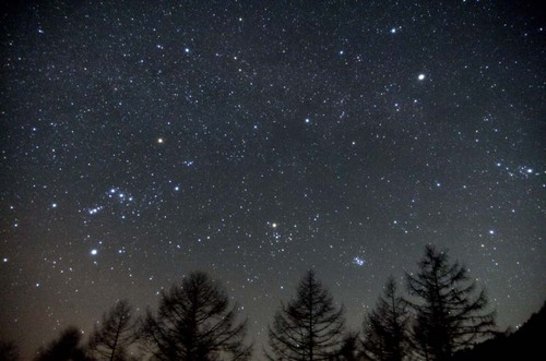 沈む冬の星座